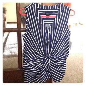 NWT Liz Claiborne striped sleeveless top